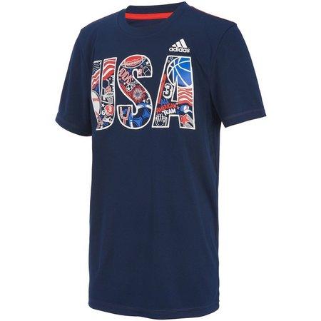 Adidas Big Boys USA T-Shirt