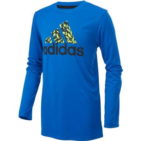 Adidas Big Boys Badge of Sport Long Sleeve