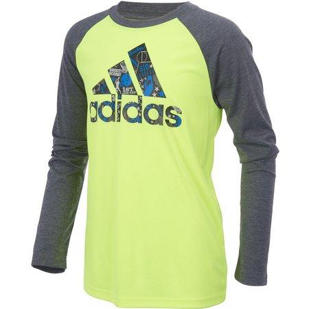 Adidas Big Boys All Sport Long Sleeve T-Shirt