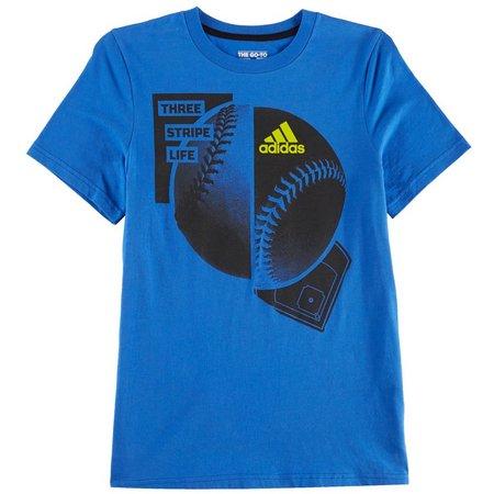 Adidas Big Boys Three Stripe Life T-shirt