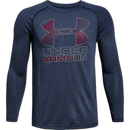 Under Armour Big Boys Logo Hybrid Dye T-Shirt