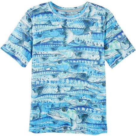 Reel Legends Little Boys Reel-Tec Fish T-Shirt