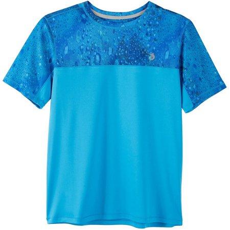 Reel Legends Big Boys Freeline Pieced Rain T-Shirt