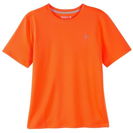 Reel Legends Big Boys Freeline Solid Crew T-Shirt