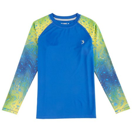Reel Legends Little Boys Warped Dorado Rashguard