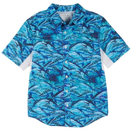 Reel Legends Big Boys Kyro Marlin Mariner Shirt