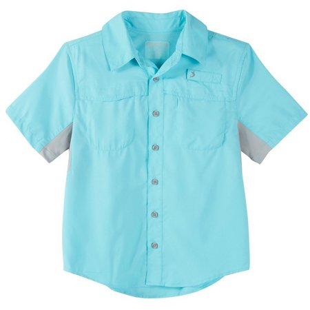 Reel Legends Big Boys Colorblock Mariner Shirt