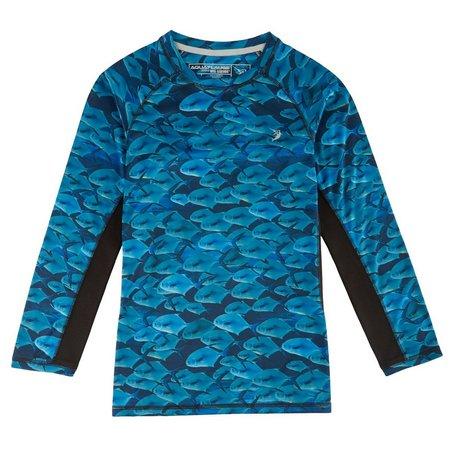 Reel Legends Big Boys AquaFlauge Permit T-Shirt