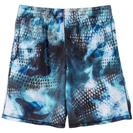 Reel Legends Big Boys Freeline Camo Scales Shorts