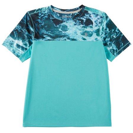 Reel Legends Big Boys Reel-Tec Baltic Seafoam T-Shirt