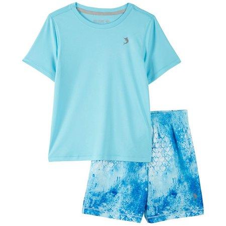 Reel Legends Little Boys Reel-Tec Scale Shorts Set