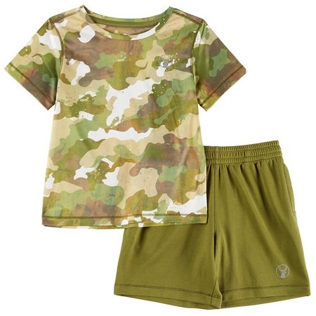 Southern Legends Little Boys Camo Tec Shorts Set