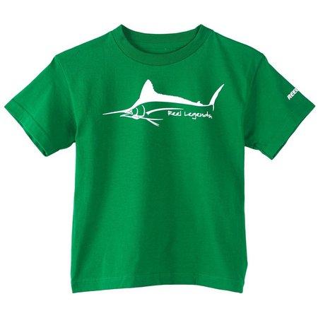 Reel Legends Big Boys Marlin Logo T-Shirt