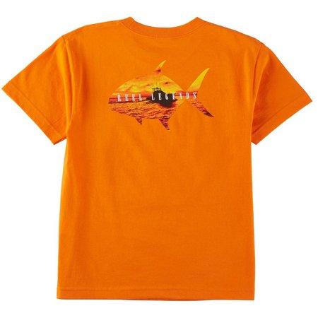 Reel Legends Big Boys Sunset Fish T-Shirt