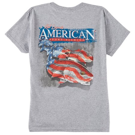 Reel Legends Big Boys Redfish USA T-Shirt