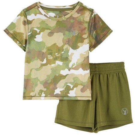 Southern Legends Toddler Boys Camo Shorts Set
