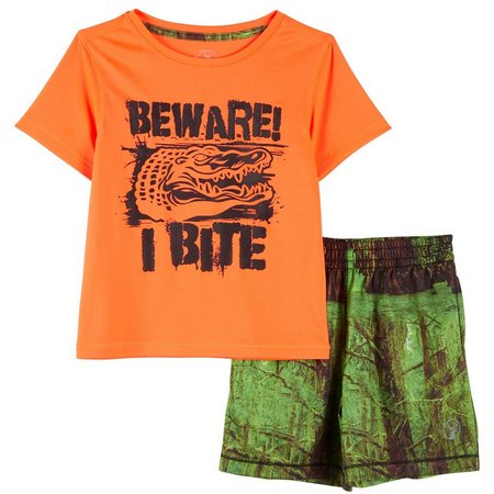 Southern Legends Toddler Boys Beware Shorts Set
