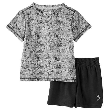 Reel Legends Toddler Boys Freeline Fins Shorts Set