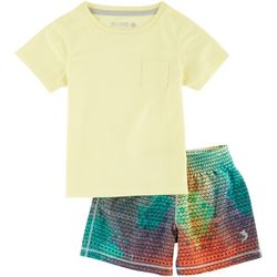 Reel Legends Toddler Boys Spectrum Fish Shorts Set