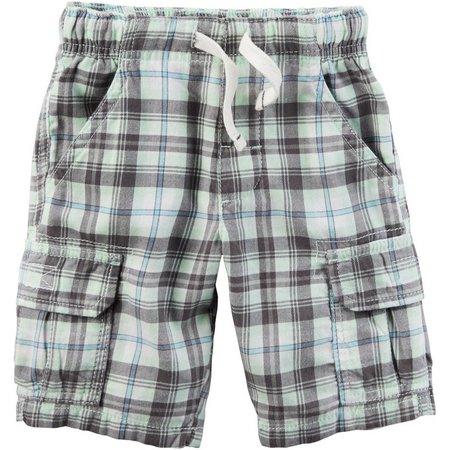 Carters Toddler Boys Plaid Cargo Pocket Shorts