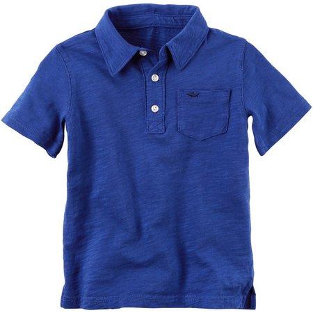 Carters Toddler Boys Slub Jersey Polo Shirt