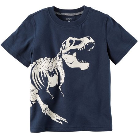 Carters Toddler Boys Dino Glow-In-The-Dark T-Shirt