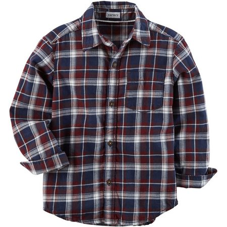 Carters Toddler Boys Plaid Button Down Shirt