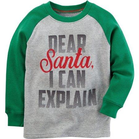 Carters Toddler Boys Dear Santa Thermal T-Shirt