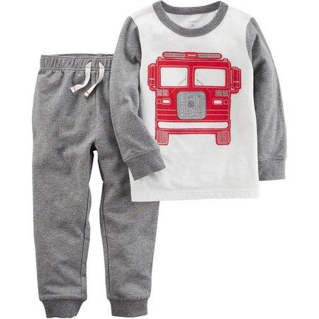 Carters Toddler Boys Fire Truck Pants Set