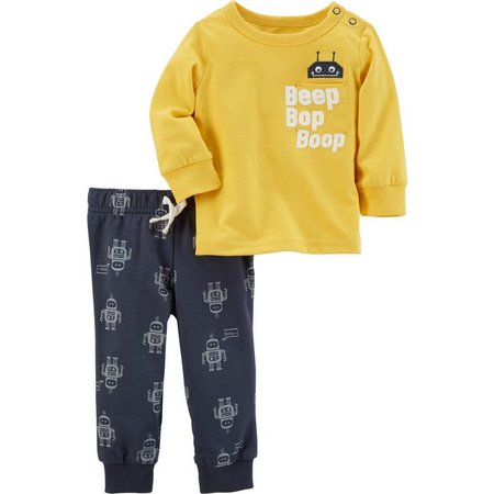 Carters Toddler Boys Robot Pocket Pants Set