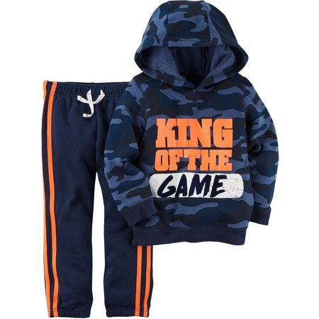Carters Toddler Boys King Of The Game Hoodie