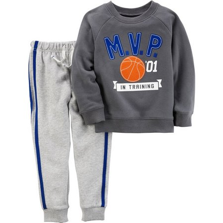 Carters Toddler Boys MVP Fleece Jogger Pants Set