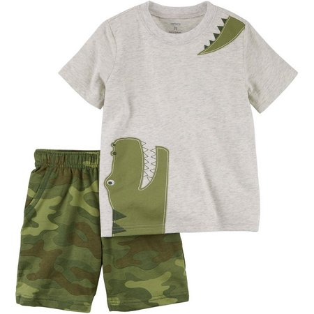 Carters Toddler Boys Gator Camo Shorts Set