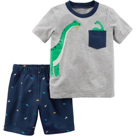 Carters Toddler Boys Dinosaur Sneak Peek Shorts Set