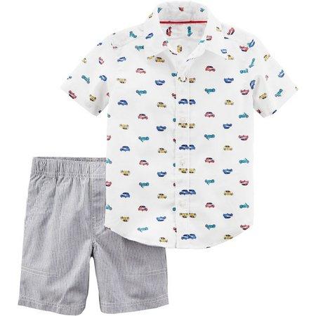 Carters Toddler Boys Car Print Shorts Set