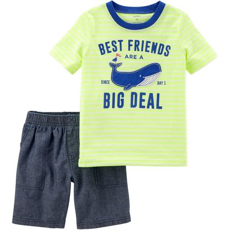 Carters Toddler Boys Whale Shorts Set
