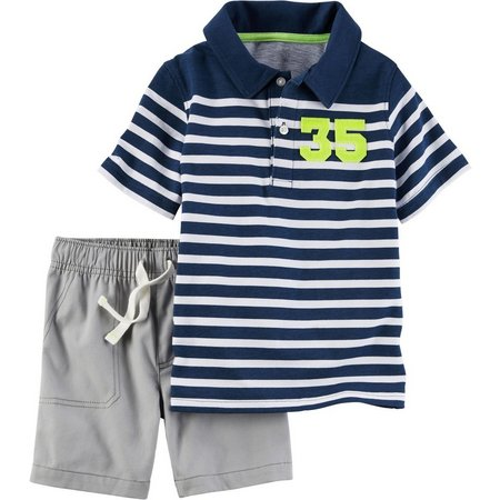 Carters Toddler Boys 35 Stripe Shorts Set
