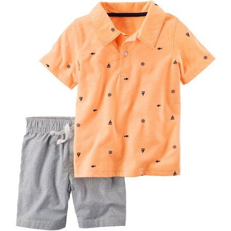 Carters Toddler Boys Striped Shorts Set