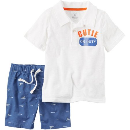 Carters Toddler Boys Cutie Shark Shorts Set