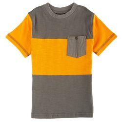 Quad Seven Toddler Boys Rugby Pocket Crew T-Shirt
