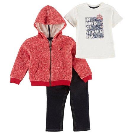 Nautica Toddler Boys 3-pc. Vitamin Sea Sweater Set