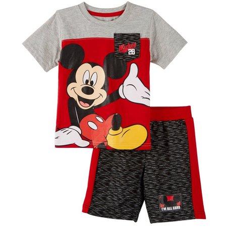 Disney Mickey Mouse Toddler Boys Ears Shorts Set