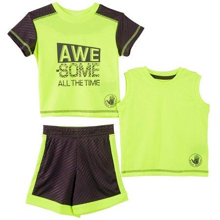 Body Glove Toddler Boys 3-pc. Awesome Shorts Set