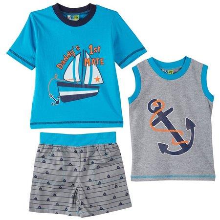 Al & Ray Toddler Boys 3-pc. Nautical Shorts