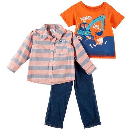Nannette Toddler Boys 3-pc. Dino Dig Pants Set