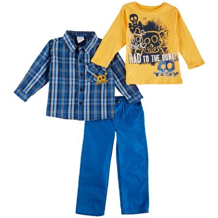 Nannette Toddler Boys 3-pc. Rad To The Bone