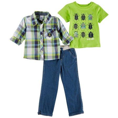 Nannette Toddler Boys 3-pc. Official Bug Finder Jeans
