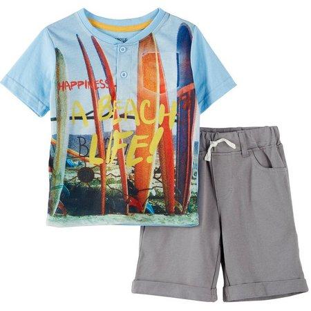 Boyz Wear Toddler Boys Beach Life Shorts Set