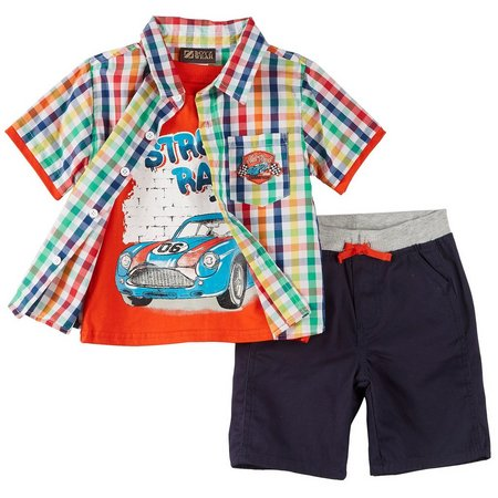 Boyz Wear Toddler Boys 3-pc. Hot Rod Shorts