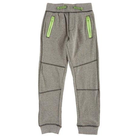 Hollywood Big Boys Heathered Zip Jogger Pants